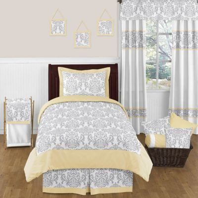 White Damask Bedding