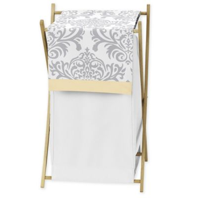Sweet Jojo Designs Avery Hamper in Yellow/Grey