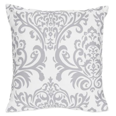 Sweet Jojo Designs Avery Reversible Throw Pillow in Yellow/Grey