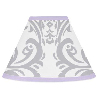 Sweet Jojo Designs Elizabeth Lampshade in Lavender and Grey