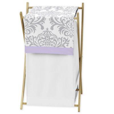 Sweet Jojo Designs Elizabeth Hamper in Lavender and Grey