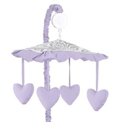 Sweet Jojo Designs Elizabeth Musical Mobile in Lavender and Grey