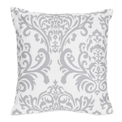 Sweet Jojo Designs Avery Reversible Throw Pillow in Lavender and Grey
