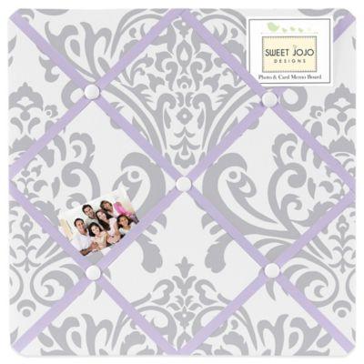 Sweet Jojo Designs Elizabeth Fabric Memo Board in Lavender and Grey