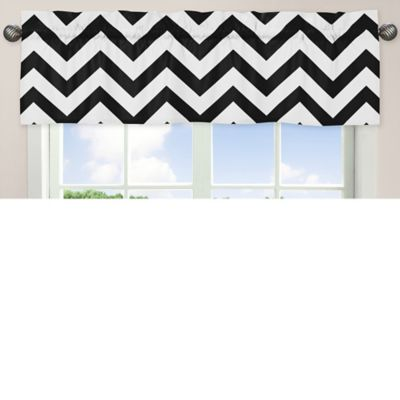 Baby Black and White Valance