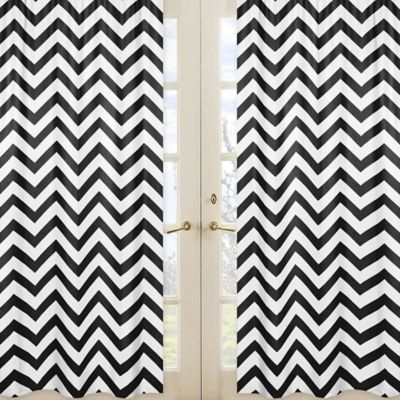 Chevron Window Panel Pair in Black