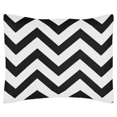 Sweet Jojo Designs Chevron Standard Pillow Sham in Black and White
