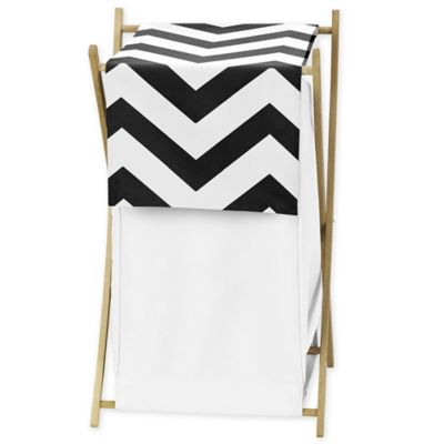 Sweet Jojo Designs Chevron Hamper in Black and White