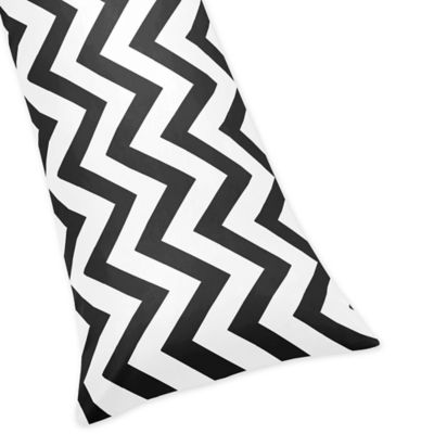 Sweet Jojo Designs Chevron Body Pillowcase in Black and White