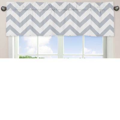 Grey and White Valances