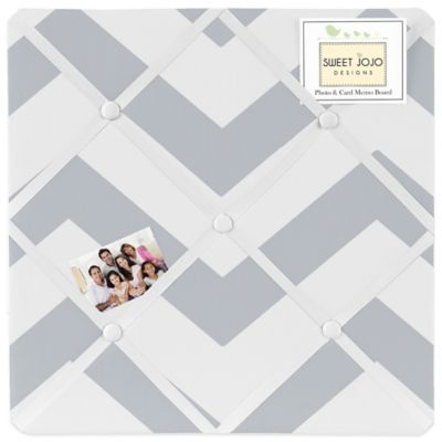 Sweet Jojo Designs Chevron Memo Board in Grey and White