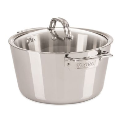 Viking® Contemporary Stainless Steel 5.2-Quart Covered Dutch Oven