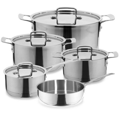 Magefesa® Inoxia 9-Piece Stainless Steel Cookware Set