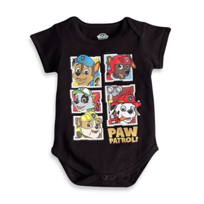"FREEZE Nickelodeon™ ""Paw Patrol"" Short Sleeve Bodysuit in Black"