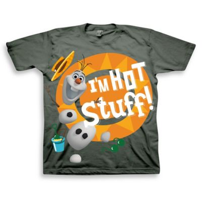 "FREEZE Disney® ""Frozen"" Size 12M ""Hot Stuff"" Olaf Short Sleeve T-Shirt in Charcoal"