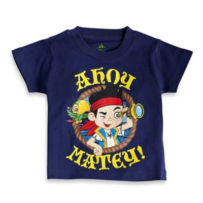 "FREEZE Disney® ""Neverland Pirates"" Size 12M ""Ahoy Matey"" Jake Short Sleeve T-Shirt in Navy"