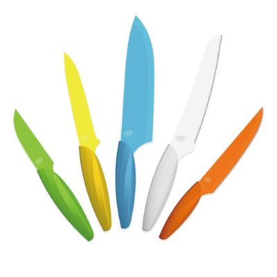 Gela 5-Piece Nonstick Coated Colored Knife Set
