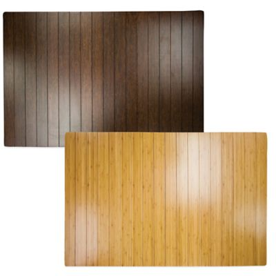 Bamboo 2-Foot x 3-Foot Floor Mat in Brown