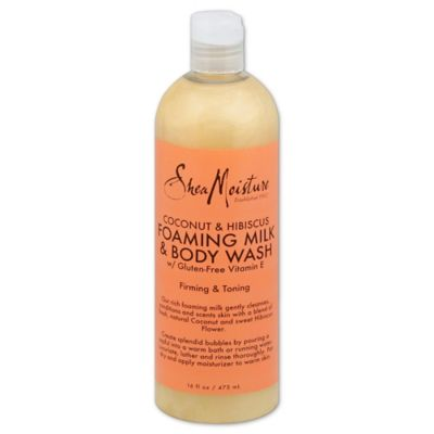 Shea Moisture 16 oz. Foaming Milk and Body Wash in Coconut and Hibiscus
