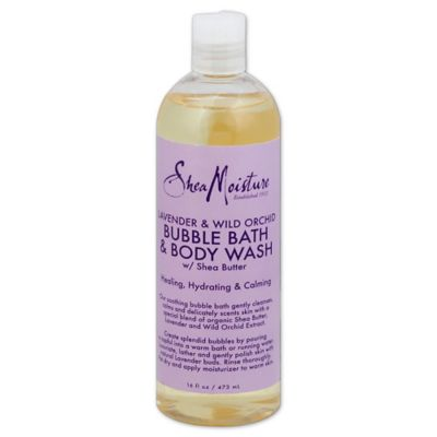 Shea Moisture 16 oz. Bubble Bath and Body Wash in Lavender/Wild Orchid