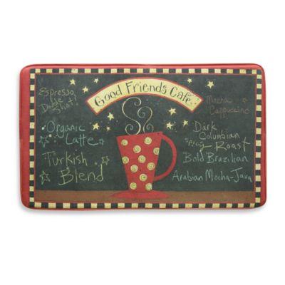 Bacova Friends Café 20-Inch x 34-Inch Memory Foam Mat
