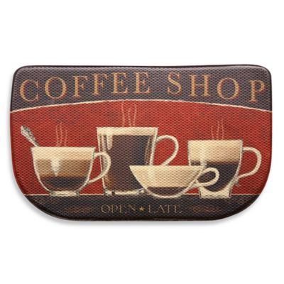 Bacova Coffee Shop 18-Inch x 30-Inch Memory Foam Mat