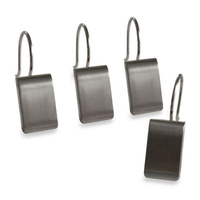 Mercantile Shower Hooks in Satin Nickel (Set of 12)