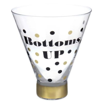 Bottom's Up Stemless Martini Glass