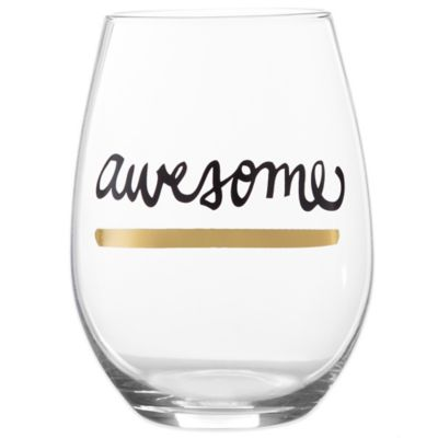 Awesome Stemless Wine Glass