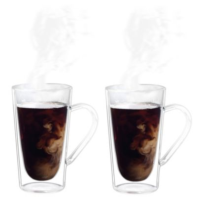 Luigi Bormioli Thermic Double-Wall Coffee/Tea Mugs (Set of 2)