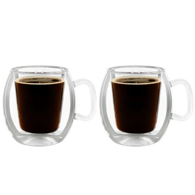Double Glass Coffee Mugs