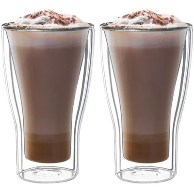 Luigi Bormioli Thermic Double-Wall Insulated Latte Macchiato Cups (Set of 2)