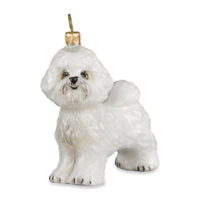Joy to the World Diva Dog Bichon Frise Santa Paws Ornament