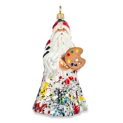 Glitterazzi Joy to the World Collectibles Artisan Santa Christmas Ornament