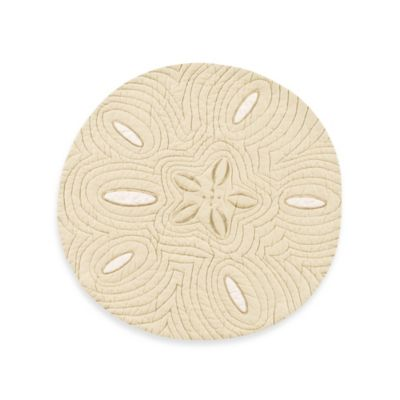 Sand Dollar Placemat in Flax