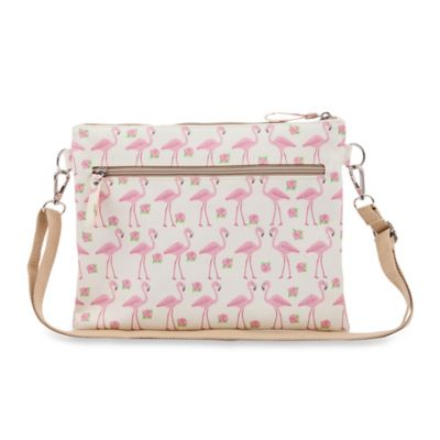 Pink Lining Mum on the Run Flamingo Walk Mini Changer in Cream/Pink