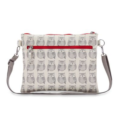 Pink Lining Mum on the Run Wise Owl Mini Changer in Grey/Red