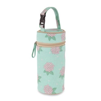 Pink Lining Hydrangea Bottle Holder in Aquamarine/Pink