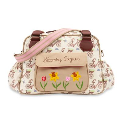 Pink Lining Blooming Gorgeous In the Mews Pink Bikes Diaper Bag