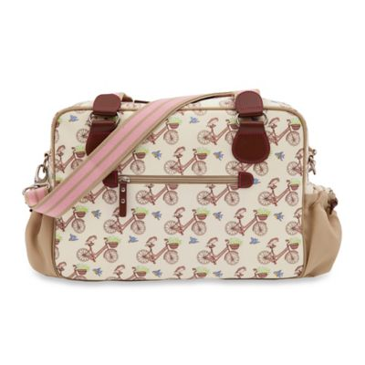 Pink Lining Not So Plain Jane In the Mews Pink Bikes Diaper Bag