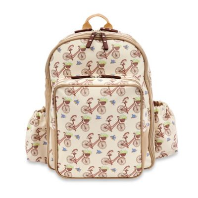 Pink Lining Wanderlust Rucksack In the Mews Pink Bikes Backpack Diaper Bag