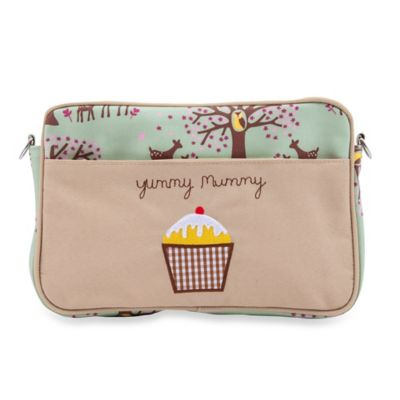 Pink Lining Mini Yummy Mummy Woodland Diaper Bag in Green