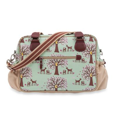 Pink Lining Not So Plain Jane Woodland Diaper Bag in Green