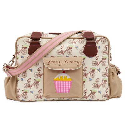 Pink Lining Yummy Mummy In The Mews Pink Bikes Diaper Bag