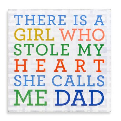 "About Face Designs ""Girl Who Stole My Heart"" Wood Dad Plaque"