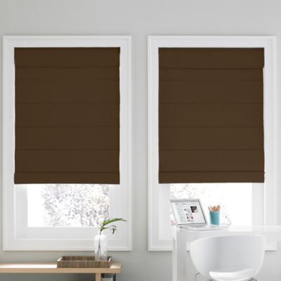 Real Simple® Cordless Roman Cellular 57-Inch x 72-Inch Shade in Chocolate