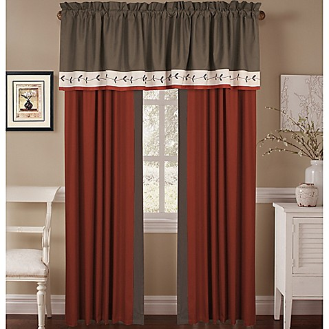 Chelsey Window Curtain Panel Pair And Valance Bed Bath Beyond