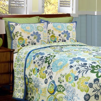 Blue Yellow Green White Quilt