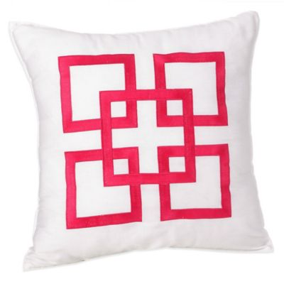 Trina Turk® Santorini Supreme Square Throw Pillow in Pink