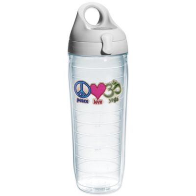 "Tervis® ""Peace Love Yoga"" 24 oz. Water Bottle with Lid"